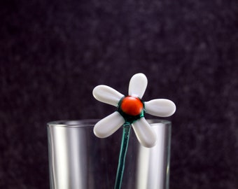 Glass  Flower.Art Murano Glass Flower.Great flower Gift.Glass flower.Fused Glass.flower Ornament.Lampwork Glass flower.flower Decor(fl1)