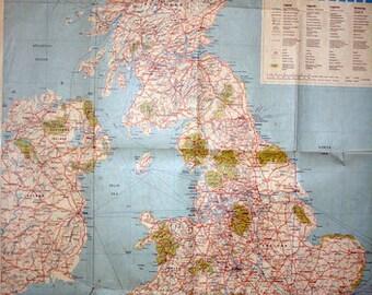 1978 BRITAIN MAP