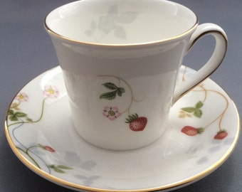 Wedgwood Wild Strawberry Coffee Cup and Saucer