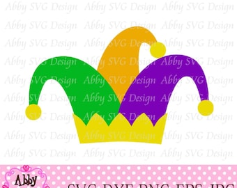 Mardi Gras Jester Hat Cut File eps,png,dxf and svg file for the Cutting Machines NO:0026