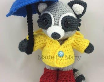 PDF PATTERN: Raccoon Amigurumi *Crochet Pattern Only, Not Actual Doll*
