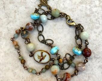Holy Spirit Gemstone Bracelet