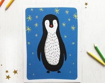 A4 Peter Penguin Print