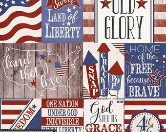 On Sale 50% Off Stars and Stripes Patriotic July 4th Pocket Scrap Card, Elements and Embellishments Kit for Digital Scrapbooking