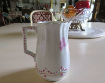 ANTIQUE CREAMER with PINK Flowers