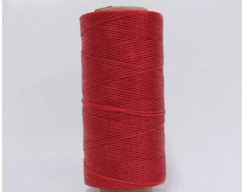 1mm Waxed Polyester Cord 160m Bright Red