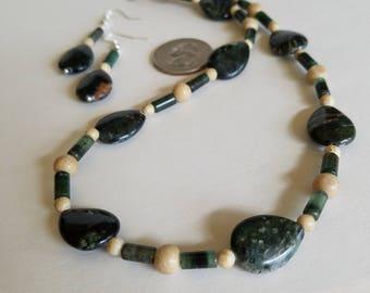 Jasper Jewelry Set, Green Jewelry Set, Jewelry Set Beaded, Jasper Jewelry, Jasper Necklace, Jasper Earrings, Green Jasper, Nurturing Stone