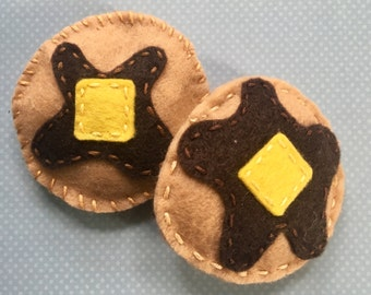 Pancake Cat Toy with Catnip and Jingle Bell