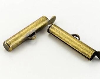 16mm Antique Brass Slide Tube #MFE113