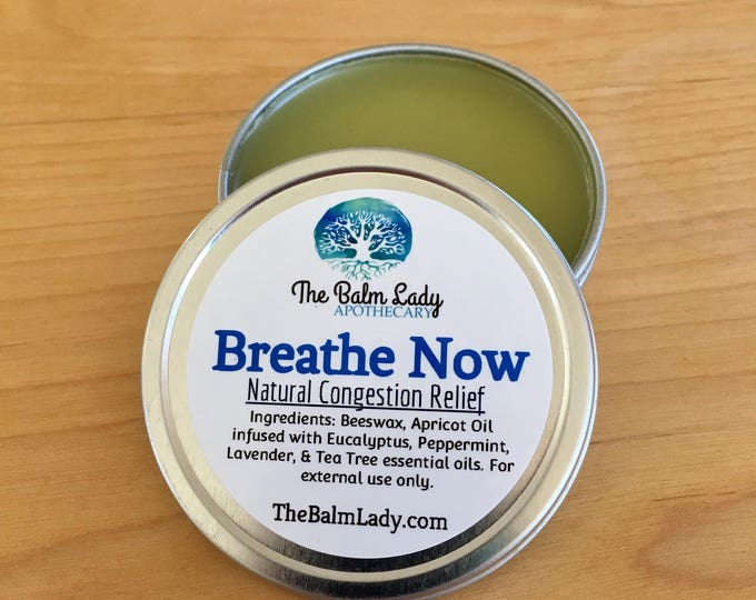Breathe Now Nasal Congestion Relief | Natural Chest Rub, Soothing, with Eucalyptus, Peppermint, Tea Tree, Lavender | Petroleum Chemical Free