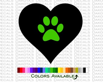 Paw Heart Decal