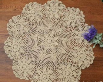 "Vintage Crochet Tablecloth~45""~Big Size~ item no 987"