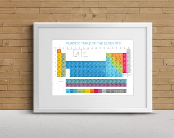 periodic table print table of elements periodic table periodic table art periodic - Periodic Table Of Elements Gifts