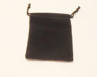 """12 Jewelry Black Velvet Pouches  3 """" x  4 """""""