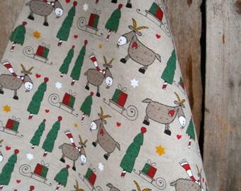 Christmas Towel Christmas Billy Goat Towel Christmas Goat Towel Goat Decor Christmas Decor Christmas Gift Tea Towel Dish Towel Farm Animal