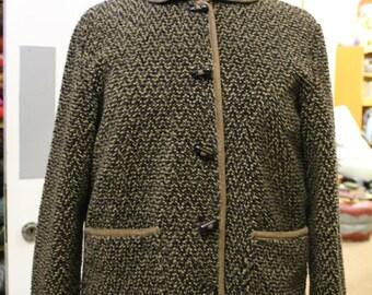 Vintage Brown and Black Cozy Fleece Jacket