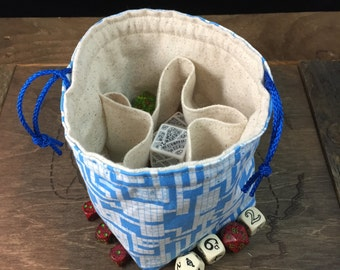 RPG/Dungeon Map Dice Bag with Pockets