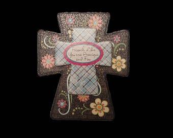 Decorative Wooden Cross Magnet