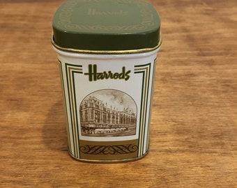 Vintage Harrods tea tin/tea caddy