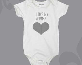 I Love My... Mummy/Daddy/Brother/Sister/Family Customised Bodysuit/ Onesie/ T-shirt