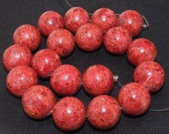 "Loose beads,full strand of 18mm sponge Coral round beads,coral stone beads FULL STRAND 16"" necklace gemstone"