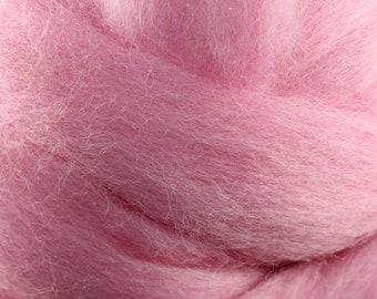 Wool Roving - 1oz - Pink