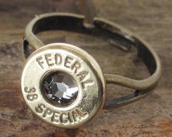 Bullet Ring - Black Diamond  - Federal 38 SPL