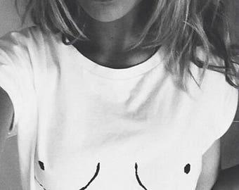 Boob Shirt - vrij van de tepel, esthetische kleding, Graphic Tee, Boobies Shirt, tepel Shirt, Boobs Shirt, gratis de tepel Shirt, Boobie Tshirt