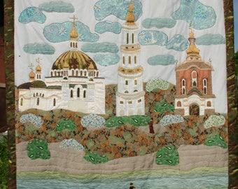 Homemade Patchwork Quilt  Kiev Pechersky Сhurch