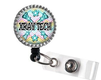 XRay Tech Badge Reel, Medical ID Holder