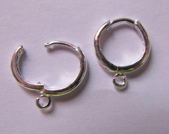 pair of medium silver-tone earrings