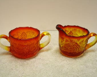 Vintage Ambernina Sugar and Creamer Set