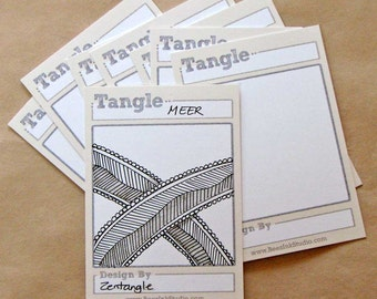 Tangle Trading Cards (DIY, blank)