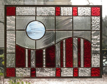 Modern Red Stained Glass Number 1