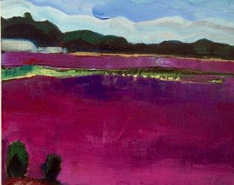 "Wonderful ""Cranberry Farm Cape Cod"" Oil Painting Impressionist Provincetown Expressionist"