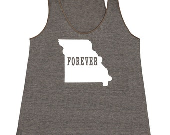 Missouri Forever Tank Top. Women's Tri Blend Racerback Tank Top SEEMBO