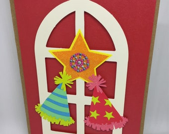 One Christmas card with Filipino Parol, this is a A2 size card.