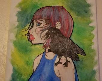 Three Eyed Crow painting