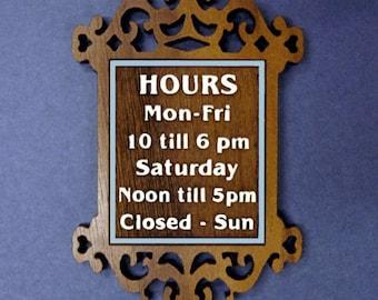 1:12 Scale Dollhouse miniature shop sign