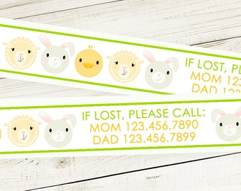 Custom Vinyl SPRING ID Bracelets - Personalized ID Bands - #Kids #Travel #Safety