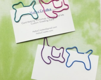 Cat and Dog paperclip. Planner Accessory