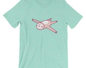 Kawaii Sloth Shirt,cute sloth,happy sloth,sloth gift, women's sloth shirt,japanese,manga,sloth lover,pink sloth,chibi sloth,sloth life,funny