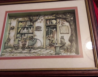Decoupage Anton Pieck picture--the sweet shop