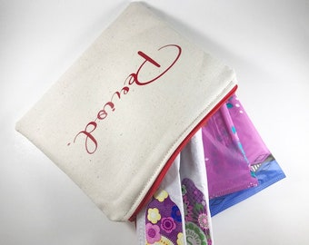 Sanitary Napkin Holder, Tampon Case, Tampon Holder,  Sanitary Pad Pouch