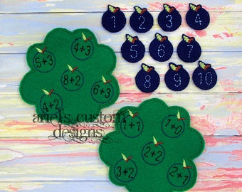 Blueberry Addition Match Educational Felt Game