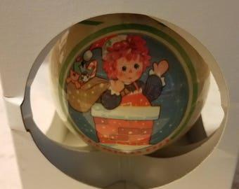 "Schmid Christmas 1979 Raggedy Ann ""Little Helper"" Ornament"