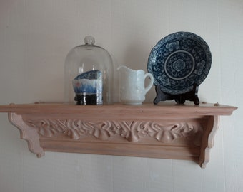 Vintage  Acanthus Leaf Design shelf Shabby  Cottage,  Home Decor