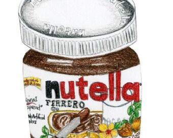 Nutella Colored Pencil 8x10 Print