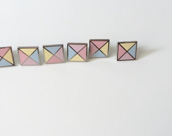 SALE / Pastel Stud enamel pin / pastel geometric enamel pin /  cute hard enamel pin / geometric badge / 15 mm pin badge