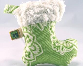 Organic Catnip Cat Toy Green Christmas Stocking